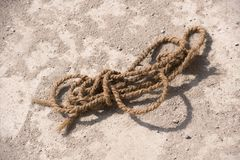 Close up old rope Royalty Free Stock Images