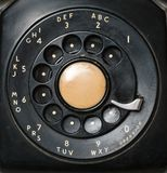 Close up of old rotary dial on telephone Royalty Free Stock Photos