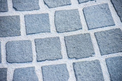 Close up old rough cobble stone path Royalty Free Stock Photo