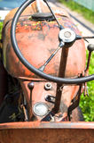 Old tractor. Close-up of an old run-down tractor Royalty Free Stock Photos