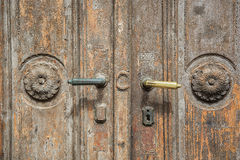 Close-up of old rustic door. Royalty Free Stock Photos