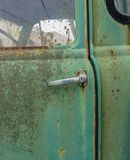Close up of old rusty car door Stock Photo