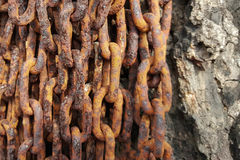 Close-up old rusty chains texture dirty steel Stock Photo