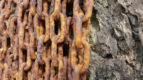 Close-up old rusty chains texture dirty steel Royalty Free Stock Photo