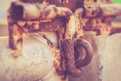 Close up old and rusty metal latch Royalty Free Stock Photography