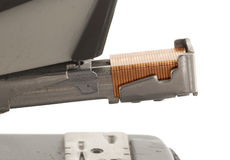 Close-up of an old rusty vintage stapler Stock Photo