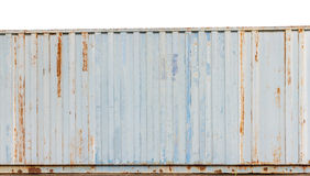 Close up old shipping container stripe pattern, grunge backgroun Stock Photography