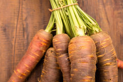 Close up of old sort of carrots Stock Photo