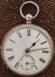 Close-up of an old sterling silver pocket watch Royalty Free Stock Photography