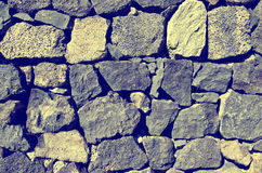 Close up of old stone wall texture. Architecture vintage brick background. Royalty Free Stock Photo
