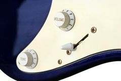 Close up of an old style electric guitar Royalty Free Stock Images