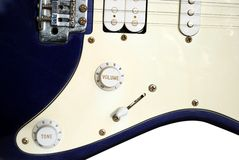 Close up of an old style electric guitar Stock Images