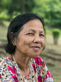 Close up old Thai woman portrait Royalty Free Stock Photos
