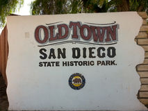 Close up of Old Town San Diego sign in California Royalty Free Stock Photography