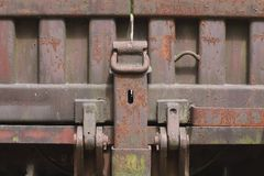 Close-up of an old train wagon stock photo