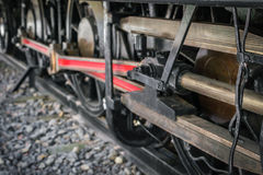 Close up of old train wheels. Royalty Free Stock Photography