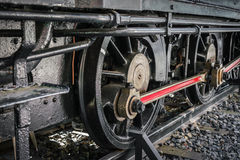 .Close up of old train wheels Stock Image