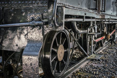 Close up of old train wheels. Stock Image