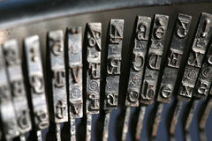 Close up of old typewriter Royalty Free Stock Photos