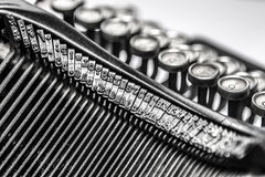 Close-up of old typewriter Stock Photography