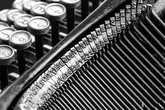 Close-up of old typewriter Stock Image