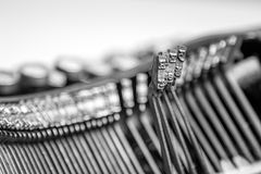 Close-up of old typewriter Royalty Free Stock Photo