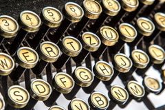 Close-up of old typewriter Royalty Free Stock Photography
