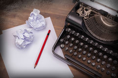 Close-up of an old typewriter with paper Royalty Free Stock Photo
