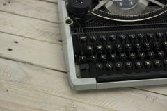 Close up of an old typewritter Stock Photography