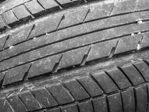 Close up of old tyre Royalty Free Stock Photography