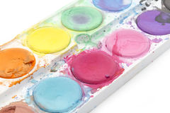 Old watercolor paint Royalty Free Stock Photography