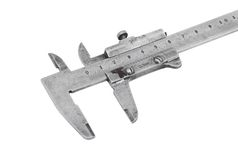 Close up of old vernier caliper Royalty Free Stock Images