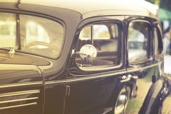 Close up on old vintage car Royalty Free Stock Photography