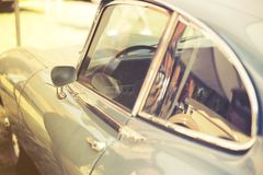 Close up on old vintage car, door and window Stock Photos