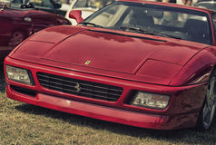 Close up on Old Vintage Ferrari Royalty Free Stock Photo