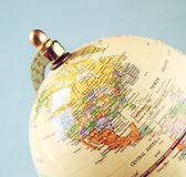 Close up of old vintage globe Royalty Free Stock Photos