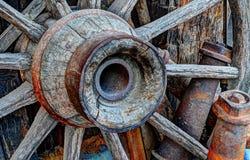 Vintage Wagon Wheel Royalty Free Stock Photography