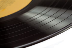 Close up of an old vinyl record Royalty Free Stock Photo