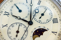 Close up of old watch. In sepia Royalty Free Stock Photos