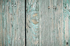 Close up old weathered planks with peeling paint Royalty Free Stock Images
