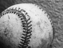 Closeup Black and White Baseball royalty free stock images