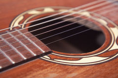 Close up of a old western guitar Stock Photo