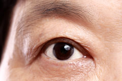 Close up of old womans eye Royalty Free Stock Photo