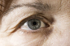 Close up old women eye Royalty Free Stock Photo