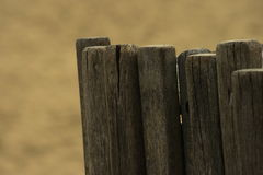 Close up of old wood posts. Close up of old cracked and weathered wooden posts Royalty Free Stock Photography