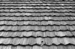 Close-up of the old wood shingle roof Royalty Free Stock Photos