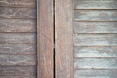 Close up old wood window. Old wood window background and texture royalty free stock photos