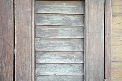 Close up old wood window. Old wood window background and texture royalty free stock image