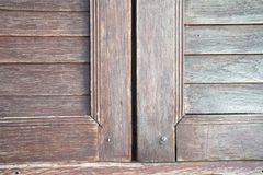 Close up old wood window. Old wood window background and texture royalty free stock photography