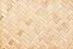 Old wood woven mat nature with line zigzag patterns texture for background. Close up Old wood woven mat nature with line zigzag patterns texture for background stock photography